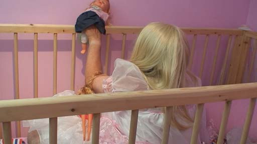 Adult Size Cot at AB/DL nursery for adult babies in Essex