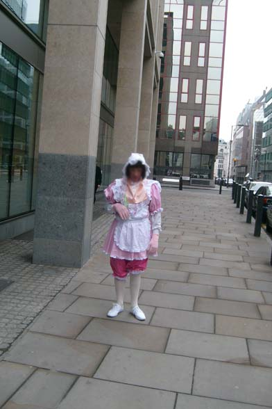 Adult baby-sissy-public humiliation in London UK