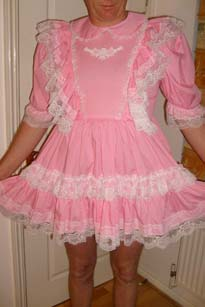 Pretty Pink adult baby sissy dress