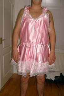 Pink satin Adult Baby Dress