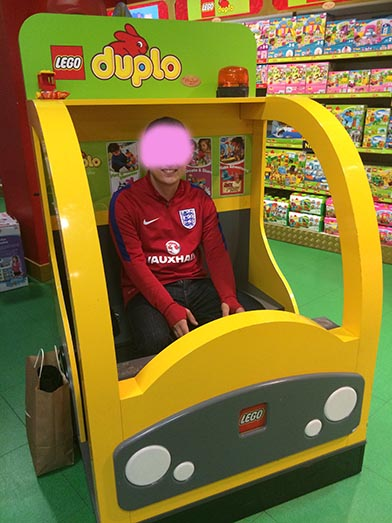 Adult Baby in Toy Shop